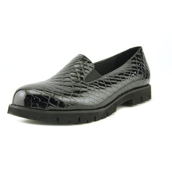 David Tate Paula Black Croc Flats