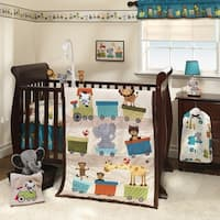 Bedtime Originals Choo Choo Beige/Brown Animal Train 3-Piece Baby Nursery Crib Bedding Set