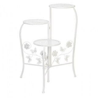 Butterfly 3-tier White Plant Stand