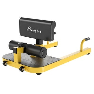 Link to Soozier 3-in-1 Padded Push Up Sit Up Deep Sissy Squat Machine Home Gym Fitness Equipment, Yellow Similar Items in Fitness & Exercise Equipment