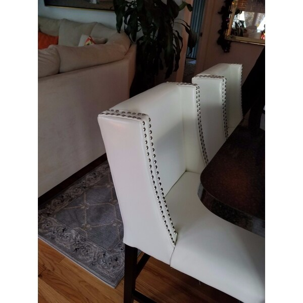4981a292f25c Shop Tina Counterstool White Leather - Free Shipping Today - Overstock -  17836355