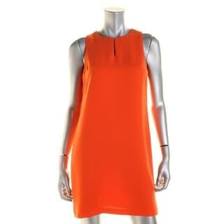 Lauren Ralph Lauren Womens Petites Forseti Casual Dress Crepe Sleeveless