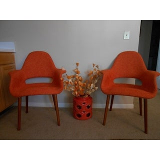 Poly And Bark Barclay Orange Upholstered Dining Chair (Set Of 2)