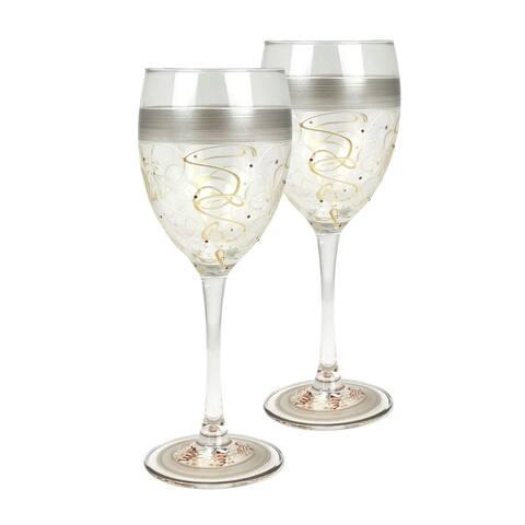 Set of 2 Celebration Streamers Wine Glass 8
