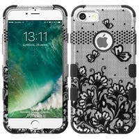 Insten Lace Flowers Tuff Hard PC/ Silicone Dual Layer Hybrid Rubberized Matte Case Cover For Apple iPhone 7
