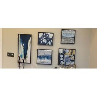 Madison Park Blue Bliss Natural Gallery Art 5-Piece Set