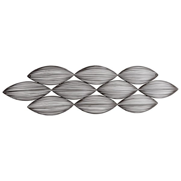 "Cyan Design 5204 Yasha 50"" x 14"" Wall Art - Graphite - N/A"