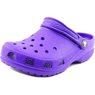 Crocs Classic Clog K Round Toe Synthetic Clogs (Option: Purple)