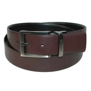 Kenneth Cole Reaction Men's Reversible Belt with Matte Nickel Buckle