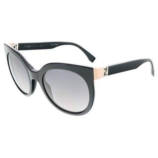 Fendi FF0129S 029A Shiny Black Round sunglasses