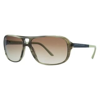 Porsche P8557-B Olive Horn Aviator Sunglasses - olive horn - 60-13-130