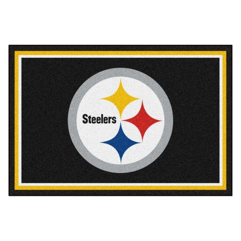 NFL - Pittsburgh Steelers 5ft. x 8 ft. Plush Area Rug - 5' x 8'/Surplus