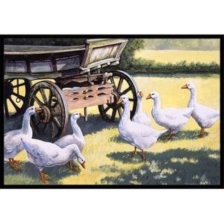 Carolines Treasures BDBA0234MAT Geese by Daphne Baxter Indoor or Outdoor Mat 18 x 27