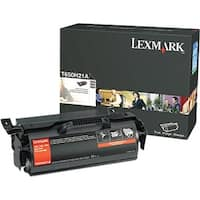 Lexmark T650H21A Lexmark High Yield Black Toner Cartridge - Black - Laser - 25000 Page - 1 Each