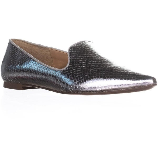 Franco Sarto Sadia2 Pointed Toe Loafers, Silver - 7 us