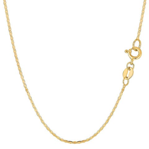 Mcs Jewelry Inc 10 KARAT YELLOW GOLD MARINER CHAIN NECKLACE (1.2MM)