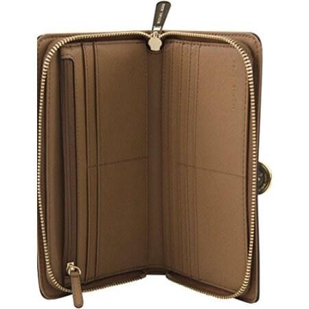 Shop Michael Kors Hamilton Traveler Large Zip Around Wallet