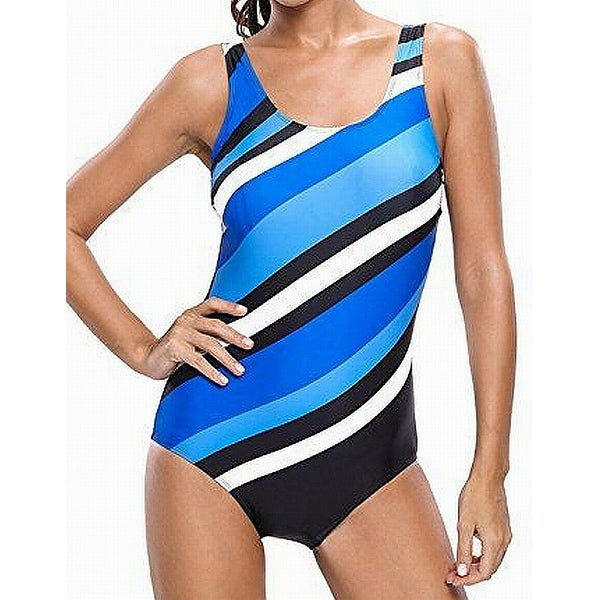 fc2ef18d9faf4 Shop Dokotoo Blue Striped Colorblock Women s Size XXL Plus One-Piece - On  Sale - Free Shipping On Orders Over  45 - Overstock - 26931620