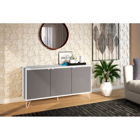 Polifurniture Oakland Sideboard, White and Grey