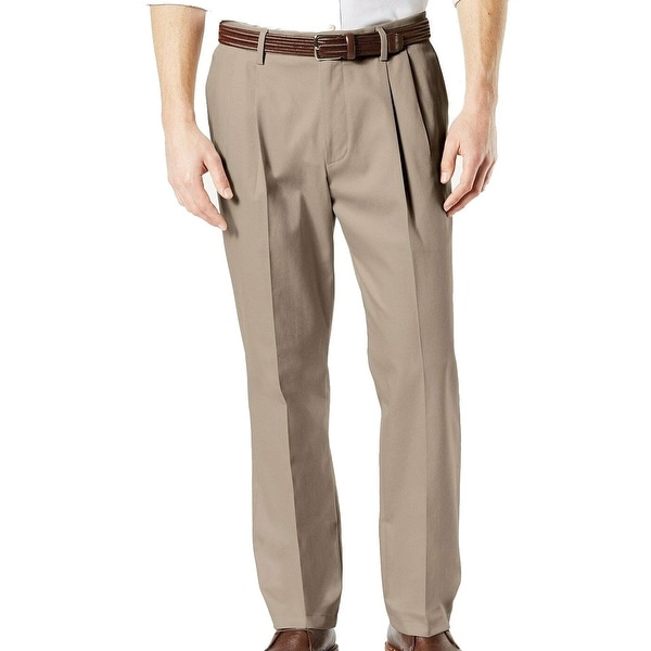 Dockers Mens Pants Beige 44X30 Big & Tall Pleated Classic Fit Stretch. Opens flyout.