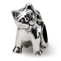 Sterling Silver Reflections Antique Cat Bead (4mm Diameter Hole)