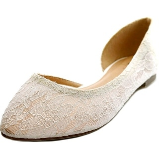 GC Shoes Lacey Pointed Toe Canvas Flats