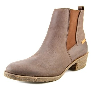 El Naturalista Antique Women Round Toe Leather Ankle Boot