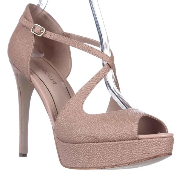 Enzo Angiolini Abalina Peep-Toe Criss Cross Dress Pumps, Light Natural - 10 us
