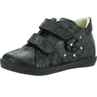 Falcotto Girls 1338 European Fashion First Walker Booties - glitter antracite