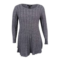 Style & Co. Women's Plus Size Ribbed-Knit Tunic Sweater