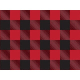 """Pack Of 1, Buffalo Plaid Christmas 24"""" X 417' Roll Christmas Premium Gift Wrap Papers For 175 -200 Gifts Made In Usa"""