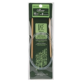 "Takumi Bamboo Circular Knitting Needles 48""-Size 8/5mm"