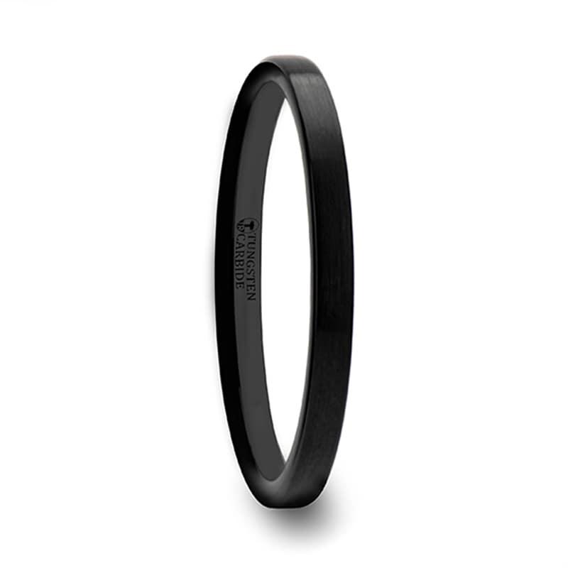 Black Tungsten Engagement Rings For Women