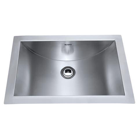 "Ruvati RVH6110 Ariaso 21"" 18 Gauge Stainless Steel Undermount Bathroom Sink - Stainless Steel"