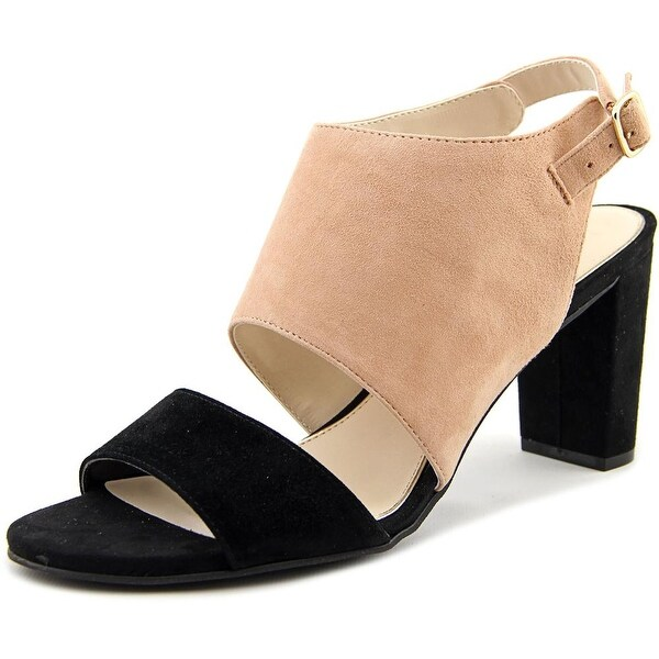 Alfani Iddris Women Open Toe Suede Black Sandals