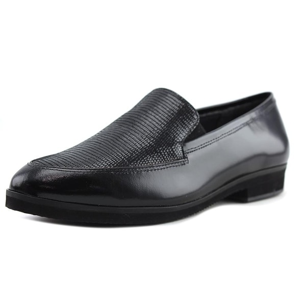 Walking Cradles Buckley Women Pointed Toe Leather Black Loafer