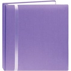"Snapload Cloth W/Ribbon Album 12""X12""-Purple - Purple"