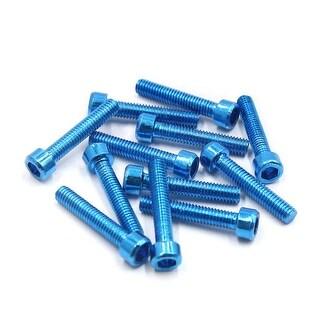 12 Pcs Universal Blue Metal 6mm Thread Dia Hexagon Bolts Screws For Motorcycle