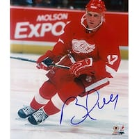 Signed Hull Brett Detroit Red Wings 8x10 Photo autographed