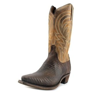 Lucchese Lizard Pull Up Boot M29 Men 2E Pointed Toe Leather Tan Western Boot