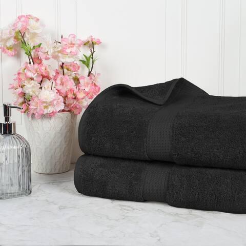 Superior Egyptian Cotton Absorbent 2-Piece Solid Bath Sheet Set