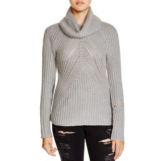 Aqua Womens Pullover Sweater Knit Turtleneck