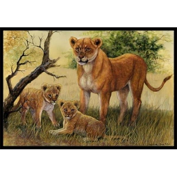 Carolines Treasures BDBA0307JMAT Lion & Cubs by Daphne Baxter Indoor or Outdoor Mat 24 x 36