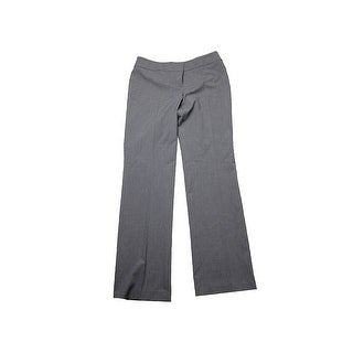 Nine West Heather Grey Taylor Stretch-Crepe Straight- Leg Pants
