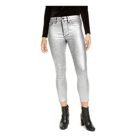 Jen 7 By 7 For All Mankind Silver Straight leg Jeans 16