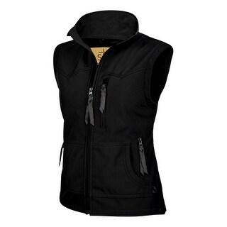 StS Ranchwear Western Vest Womens Barrier Zipper Front Black STS3452