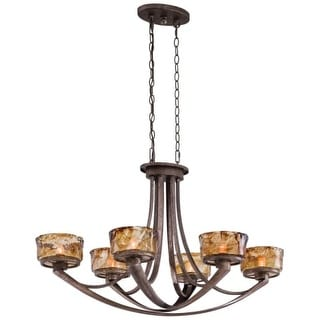 Minka Lavery 4996-271 6 Light Single Tier Linear Chandelier from the La Bohem Collection
