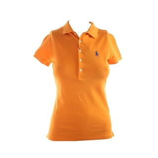 Polo Ralph Lauren Orange Short-Sleeve Stretch Mesh Polo Shirt XS