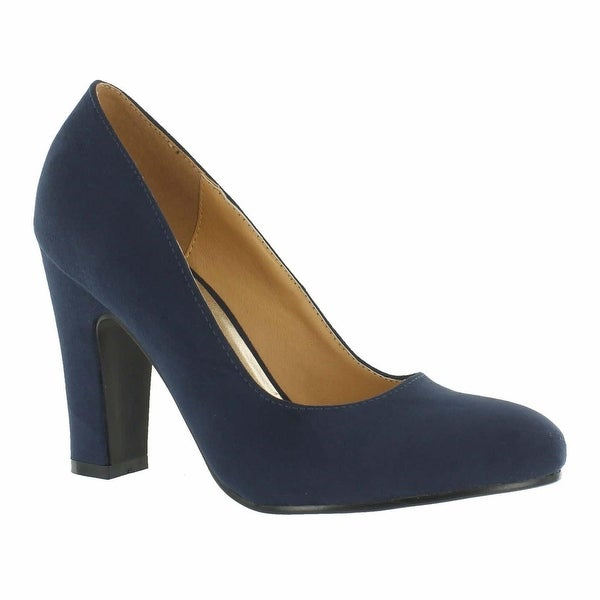 Red Circle Footwear 'Sybil' Chunky Heel Pump in Navy