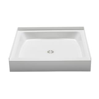 "PROFLO PFSB3636  Single Curb Rectangular Shower Pan (36"" X 36"") - For Alcove Installation - White"